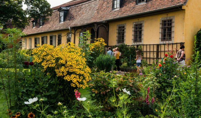 Garten von Goethes Wohnhaus am Frauenplan (Foto: Maik Schuck © weimar GmbH)